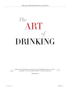 Pages from ART OF DRINKING