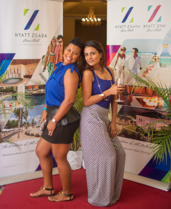 These two had a blast at Vivica A. Fox's cocktail party hosted at the all inclusive Hyatt Ziva.