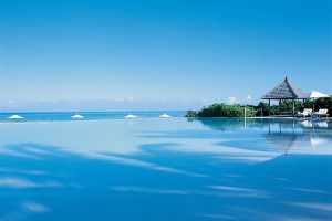 The infinity pool at Parrot Cay.