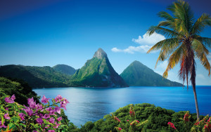 The stunning views on the island of St. Lucia.