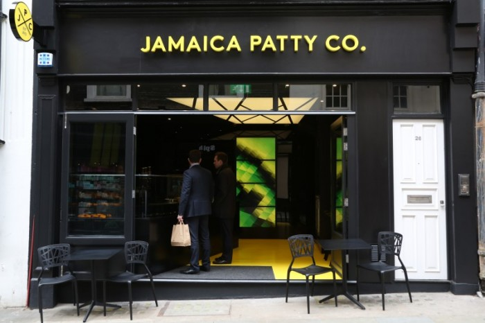 Jamaica Patty Company Storefront. 26 New Row, Covent Garden.