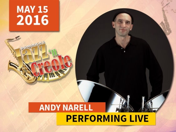 Andy Narell for dominica jazz and creole festival